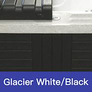 Glacier White - Black Swatch