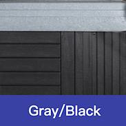 Gray - Black Swatch